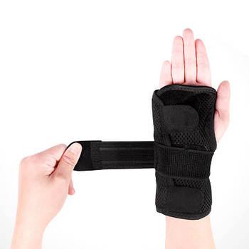 Бандаж на запястье с ребрами жесткости AOLIKES HS-1672 Правая М