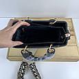 Сумка диор леди широкий ремешок плетенная ПУ (1696) -зто2 Черный, фото 5