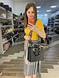 Сумка диор леди широкий ремешок плетенная ПУ (1696) -зто2 Черный, фото 6