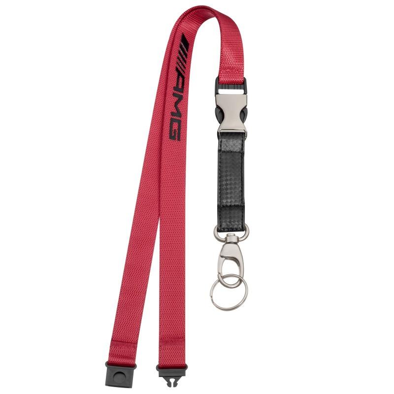Стрічка з карабіном для ключів Mercedes-AMG Lanyard, Red Black, артикул B66953852
