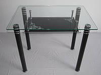 Стол обеденный из стекла D6820 900х610х730 черный