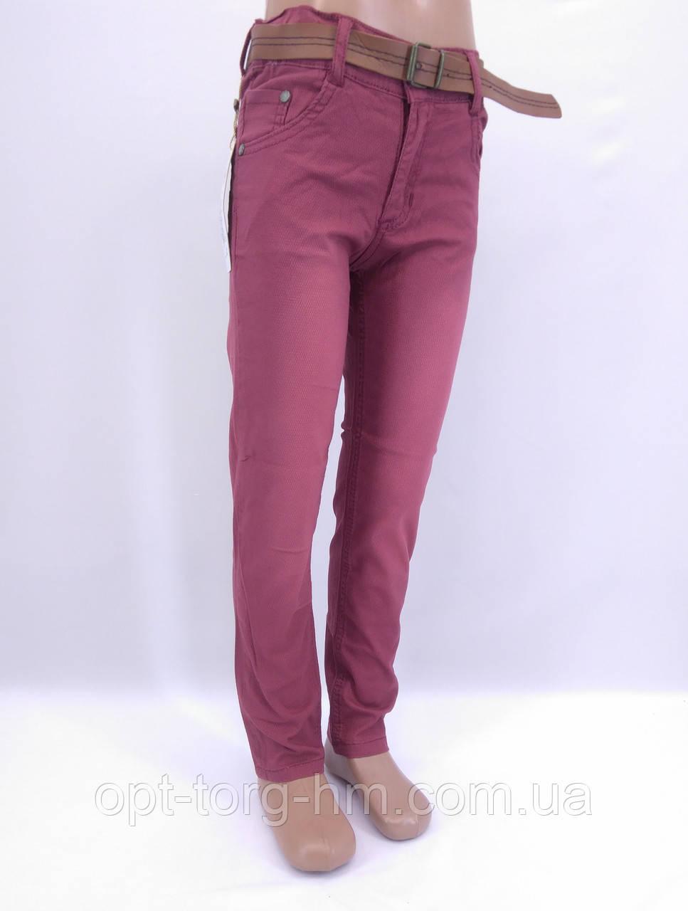 Котоновые брюки для мальчика (бордо)