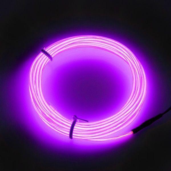 Гибкий светодиодный Неон 3м, толщина 2.3мм  фиолетовый