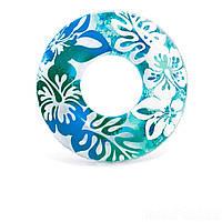 Надувной круг Intex 59251 «Перламутр», 91 см, голубой