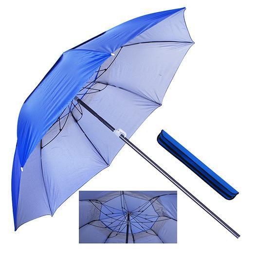 Зонт пляжный антиветер d1,6м серебро (с треногой, колышками и веревкой) Stenson (MH-2712)