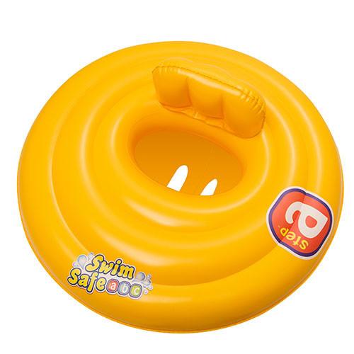 BW Плотик 32096 (12шт) детский, надувной, желтый, 69 см