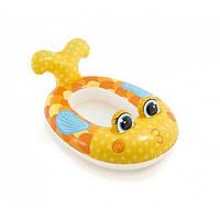 """Плотик надувной Intex 59380 """"Рыбка""""детский для плавания 100*97 см одноместный, от 3-х лет"""