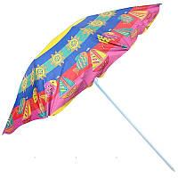 Зонт пляжный D2.4m серебро