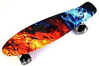 """Пенни борд, Penny Board """"Fish"""" Fire and Ice., фото 1"""