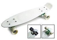 Пенни борд, Penny Board. Белый цвет. Матовые колеса.