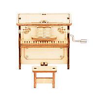 """Дерев'яний конструктор """"Піаніно з музичним механізмом 2"""" 3D пазл"""