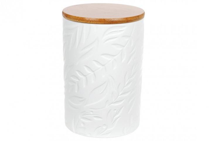 Банка с бамбуковой крышкой 800 мл Листья Bona Di 304-902