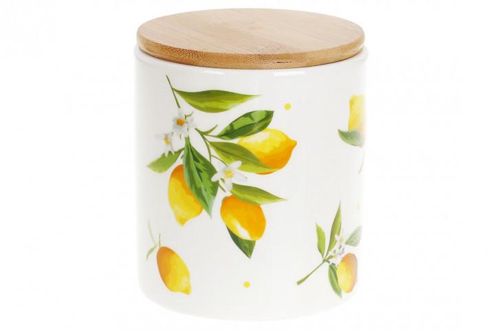 Банка с бамбуковой крышкой 600 мл Сочные лимоны Bona Di DM-005-Y