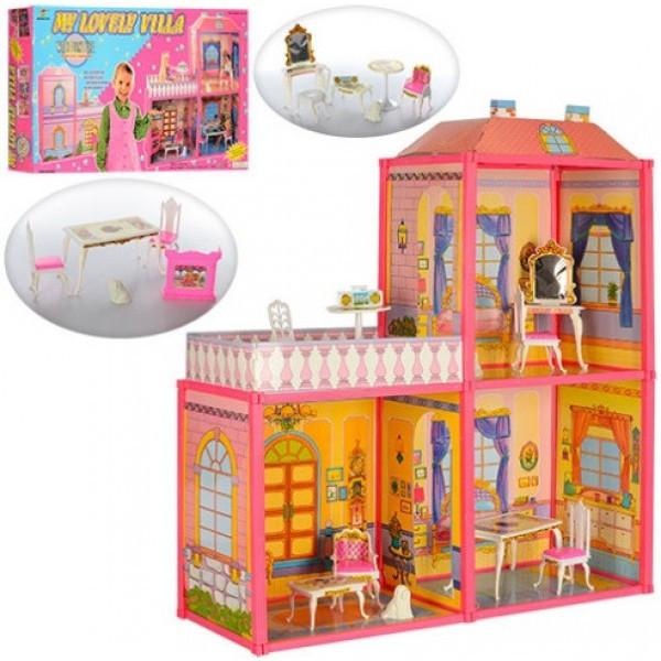 """Игровой набор """"TOY"""" Двухэтажный кукольный домик 6984 My Lovely Villa (высота 79 см)"""