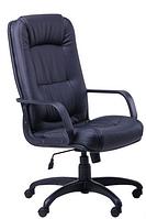 Зручне офісне комп'ютерне крісло на колесиках Марсель Пластик Неаполь N-20