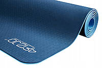 Коврик (мат) для йоги и фитнеса 183 х 61 х 0.6 см 4FIZJO TPE 4FJ0033 Blue/Sky Blue для дома и спортзала