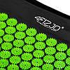 Коврик акупунктурный с валиком 4FIZJO Аппликатор Кузнецова 128 x 48 см 4FJ0048 Black/Green для дома и спортзал, фото 6