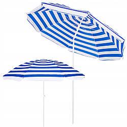 Пляжный зонт с регулируемой высотой и наклоном Springos 180 см BU0008 для дома, сада и пляжа
