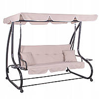 Качели-диван садовые с навесом 193х163 см Springos Venezia GS0006 для дома, сада и пляжа с нагрузкой до 280 кг