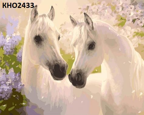 "Картина по номерам. ""Пара коней"" 40*50см"