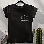 """Парные футболки для парня и девушки """"Сердце + Завжди поруч"""", фото 2"""