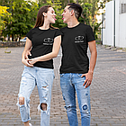 """Парные футболки для парня и девушки """"Сердце + Завжди поруч"""", фото 3"""