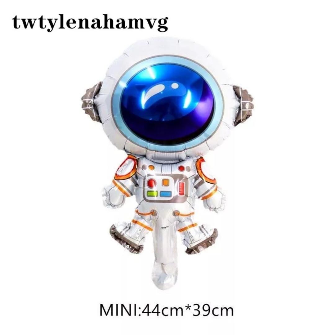 Мини фигурный фольгированный шар космонавт 39*29 см