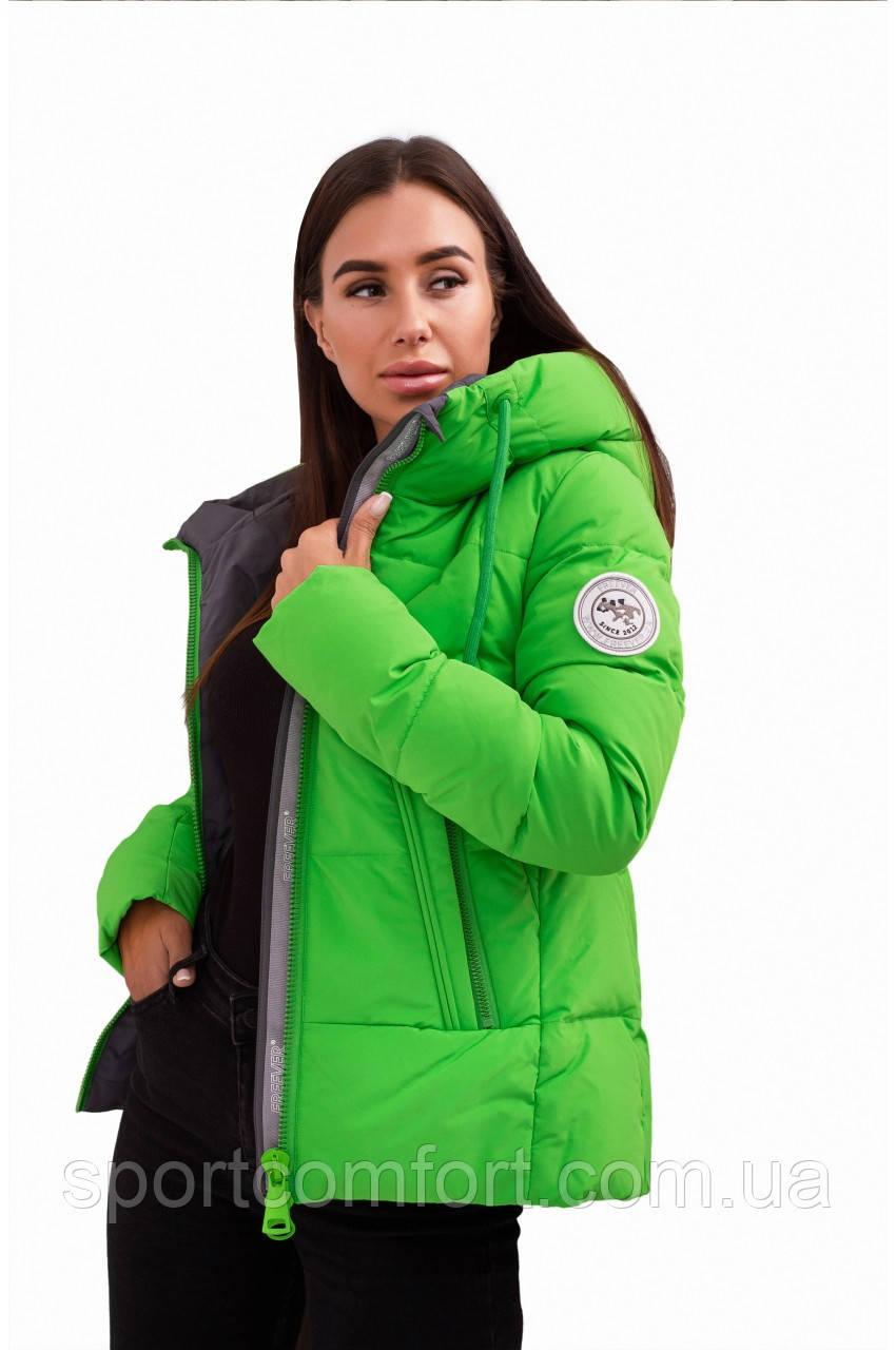 Куртка жіноча Freever баклажан, чорний, біла