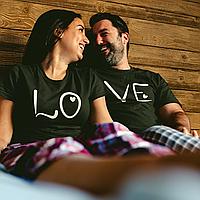 """Парные футболки для парня и девушки """"LO / VE"""""""