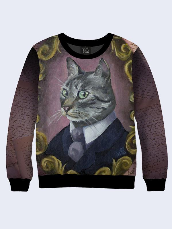Світшот чоловічий Кіт у костюмі