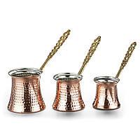 Турки (джезвы) для кофе Sena 3 шт. медные 220 мл, фото 1
