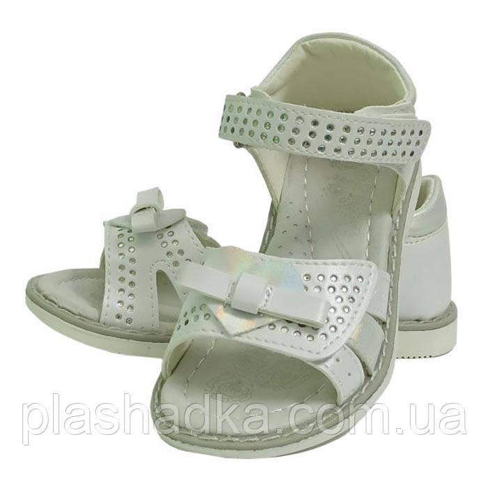 Босоножки сандали босоніжки летняя літнє обувь взуття для девочки дівчинки clibee клиби 218 белый. Размер 25