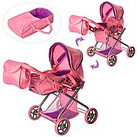 Детская прогулочная коляска для куклы для девочек демисезонная