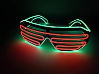 Светодиодые очки светящиеся в темноте зеленый оранжевый