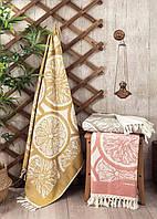 Яркое пляжное полотенце подстилка, 90*170 см Турция 100% Хлопок Цвет Желтый