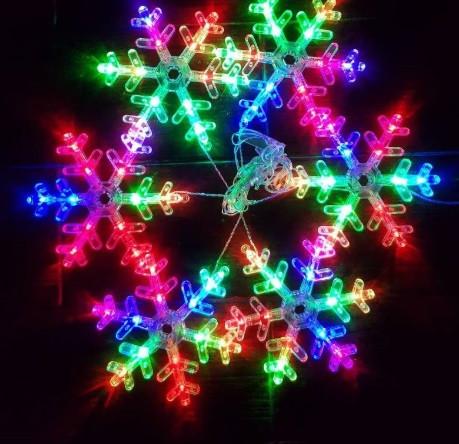 Декоративная гирлянда фигурки снежинки LED