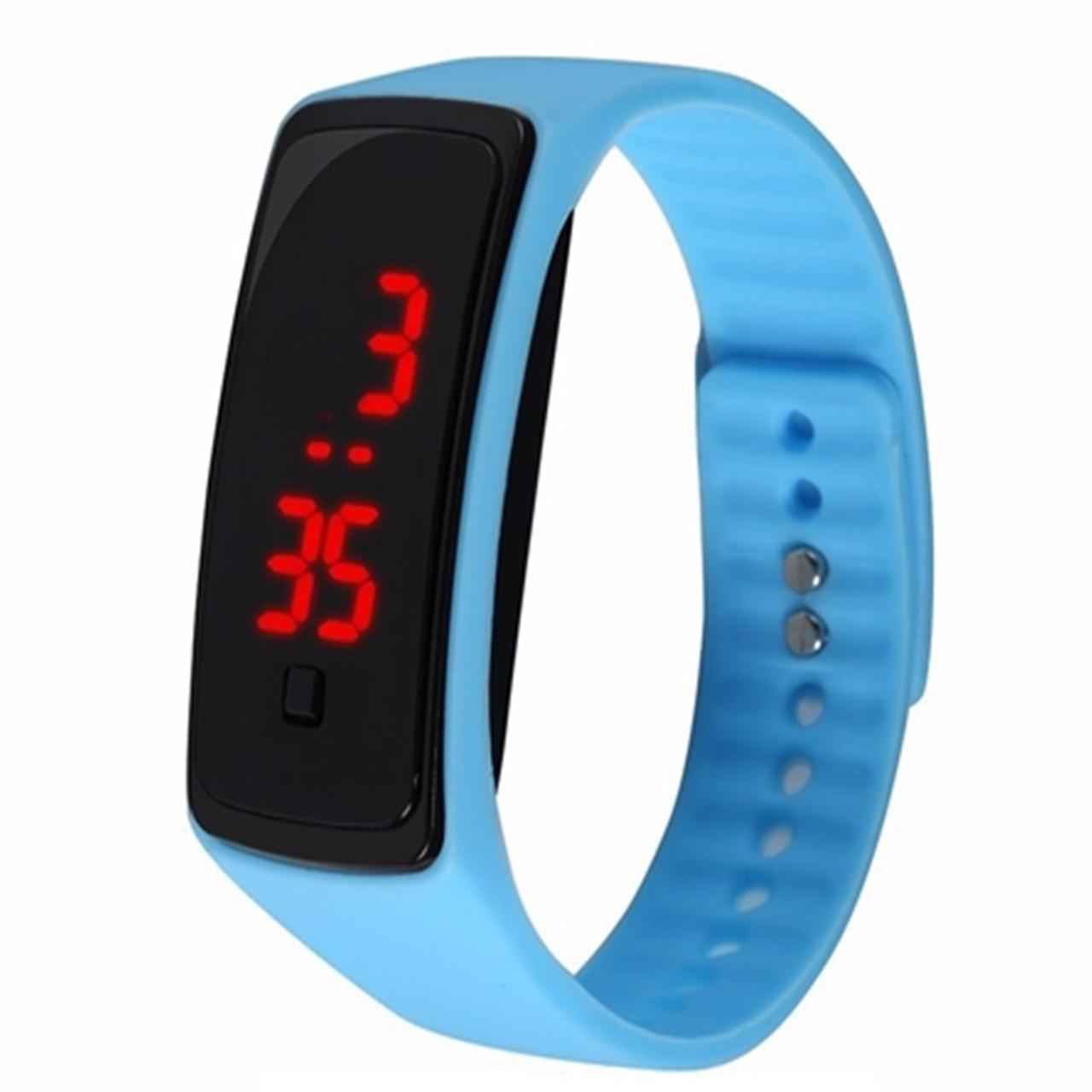 Электронные наручные часы LTL Led на силиконовом браслете ice blue