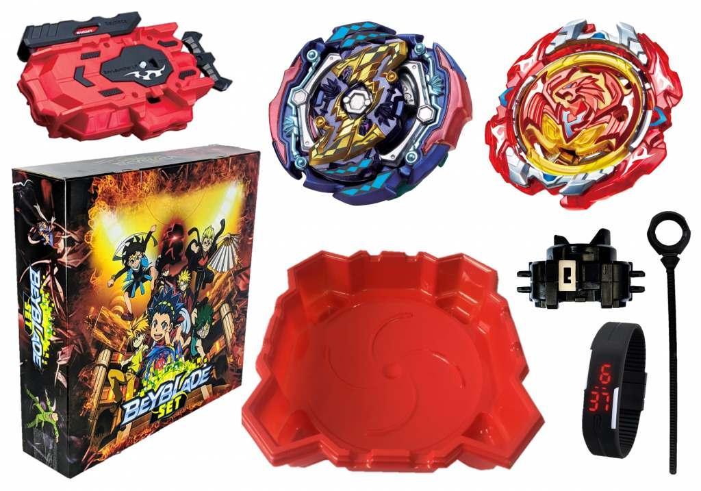 Набор в Подарочной Коробке Арена квадратная + Бейблейд Карающий Джокер Бейблейд (Kill Joker Judgment) с пусковым устройством + Starter Revive Phoenix