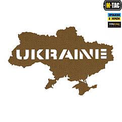 Патч M-Tac Ukraine Laser Cut Coyote