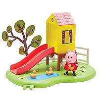 Игровой набор Свинка Пеппа Игровая площадка Пеппы Домик с горкой 06149-2
