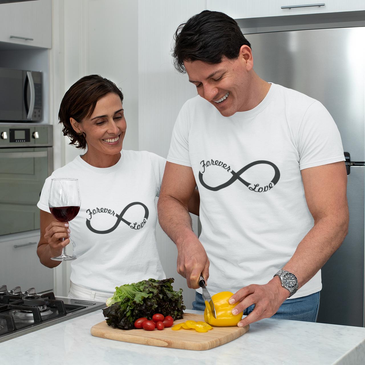 """Парні футболки для закоханих  """"love Forever"""""""