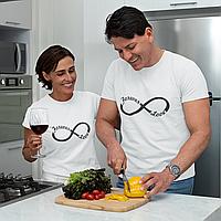 """Парные футболки для парня и девушки """"Forever love"""""""