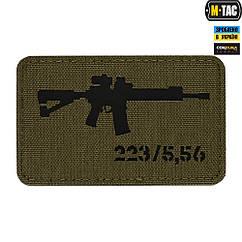 Патч M-Tac AR-15 Laser Cut Green/Black