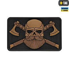 Патч М-Тac Bearded Skull 3D ПВХ Black/Coyote
