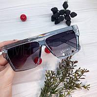Жіночі сонцезахисні квадратні окуляри Celine Чорні в блакитній оправі
