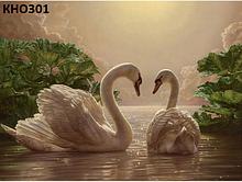 Картина по номерам. «Пара лебедів» (КНО301)