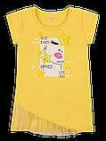Детская футболка для девочки FT-20-18-2 *Лайк* (размеры 122,128,134 цвет белый, жёлтый, розовый), фото 2
