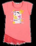 Детская футболка для девочки FT-20-18-2 *Лайк* (размеры 122,128,134 цвет белый, жёлтый, розовый), фото 3