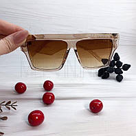 Жіночі сонцезахисні квадратні окуляри Коричневі Celine