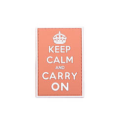 Патч GFC Keep Calm And Carry On Red